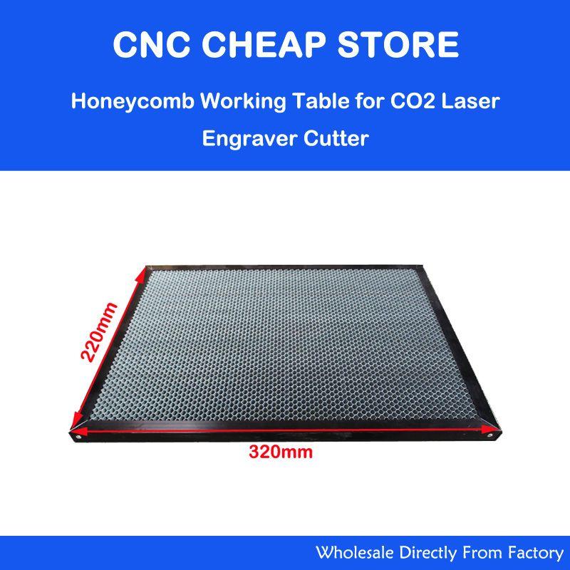 Pièces d'équipement Laser Table de travail en nid d'abeille pour Machine de découpe Laser CO2 Shenhui SH K40 graveur de timbre 320x220mm