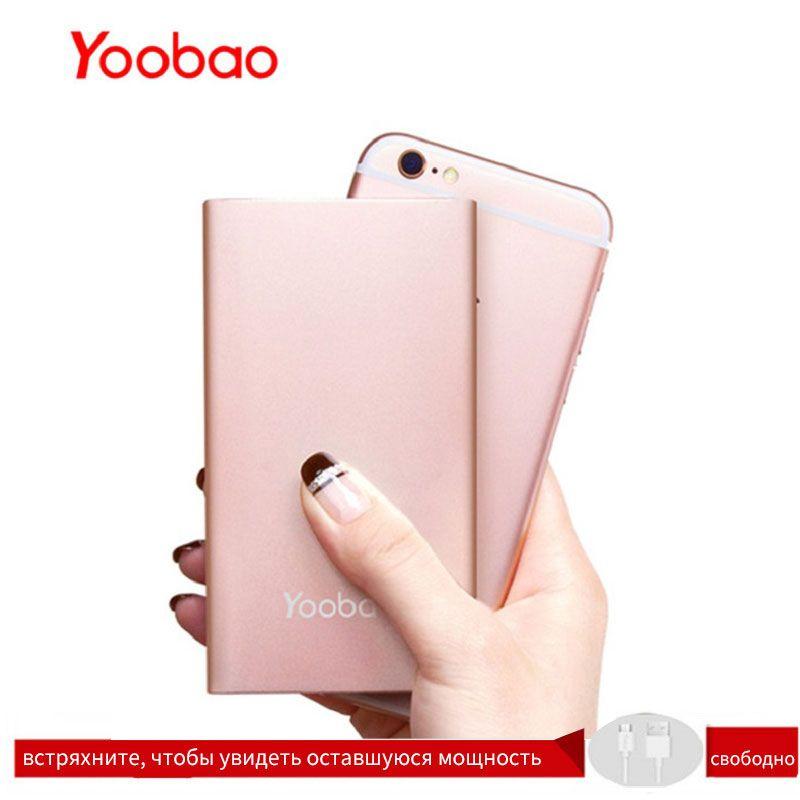 Yoobao KJ01 4000 mAh double entrée USB batterie externe Ultra mince 9.3mm chargeur Portable li-polymère batterie externe pour téléphone Portable pour LG