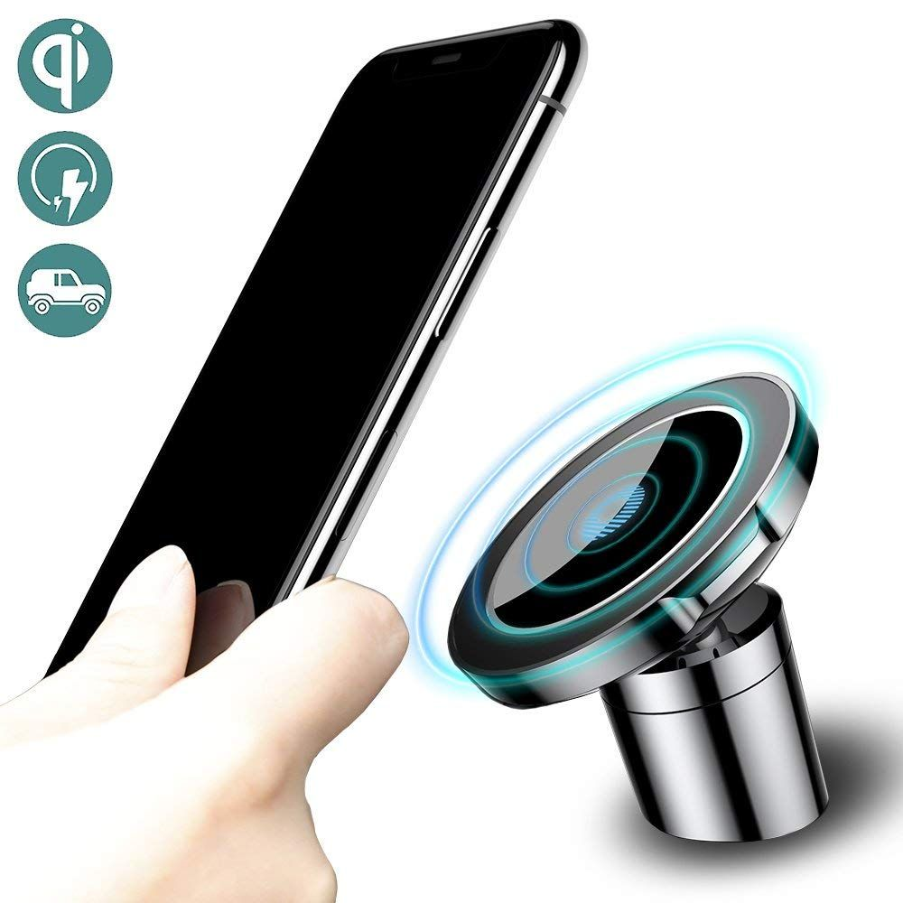 Baseus QI Wireless Charger Magnetic Car holder For iPhone X 8 Samsung S9 Mobile Phone Holder Wireless Car Charger Phone Holder