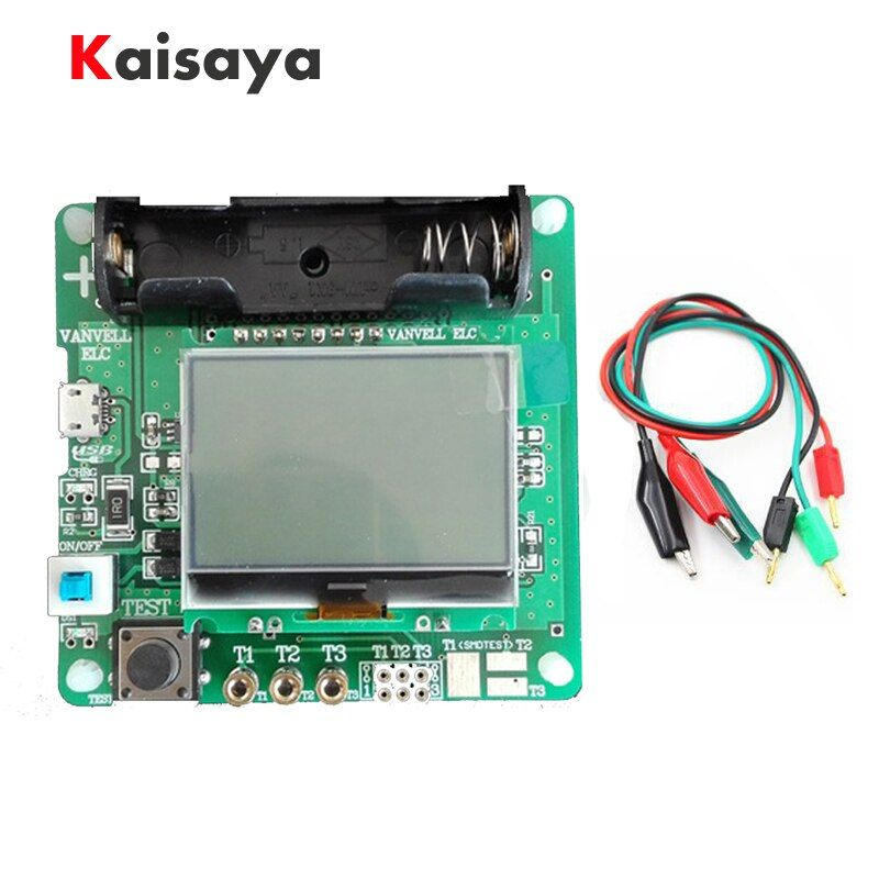 Portable Design Inductor-capacitor ESR Meter MG328 LCD Display Multifunction Transistors tester L1-003