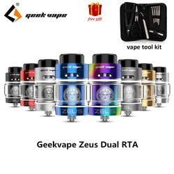 Original Zeus dual RTA Geekvape Zeus Dual coil  5.5 ml RTA zeus atomizer leak proof top airflow system E Cigarette