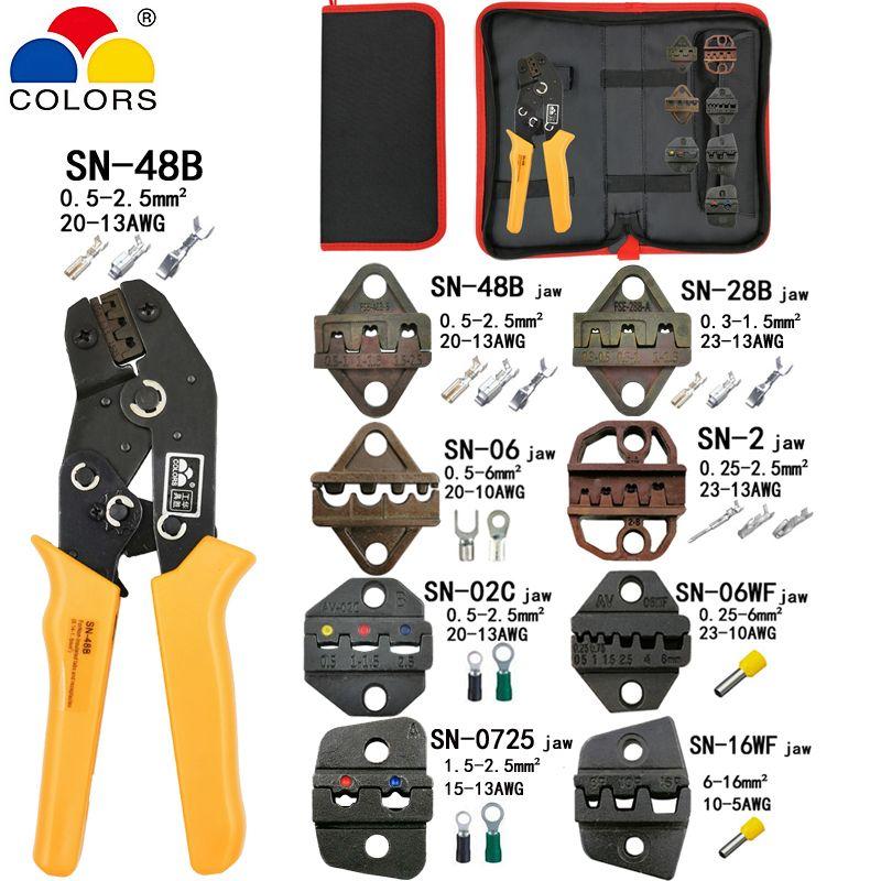 Pince à sertir SN-48B 7 mâchoires pour tab C3 DuPont 2.54 3.96 2510 bornes pulg/tube/isolation kit sac pince électrique marque outils