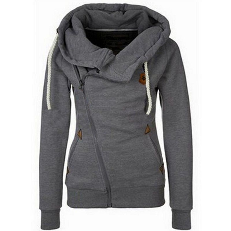 New <font><b>Arrival</b></font> Autumn Winter Solid Women Hoodies Sweatshirt Zipper Design Hoody Thicken Hoodie Tracksuit Women 2018 Hot Sale