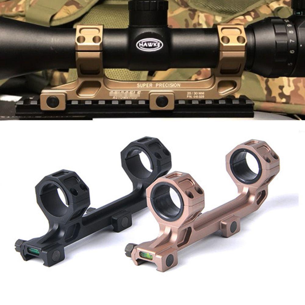 Taktische Automatik AR15 Ring-bereich-einfassung für Optische Anblick Montieren 25,4mm/30mm Ringe Zielfernrohr Montieren mit Wasserwaage für 20mm Schiene