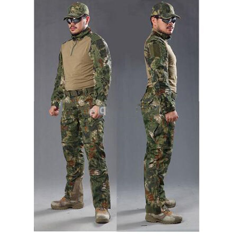 Kryptek Mandrake Frog Fighting Suit police Frog uniforms army trainning uniform set one long sleeve shirt and one tactical pant