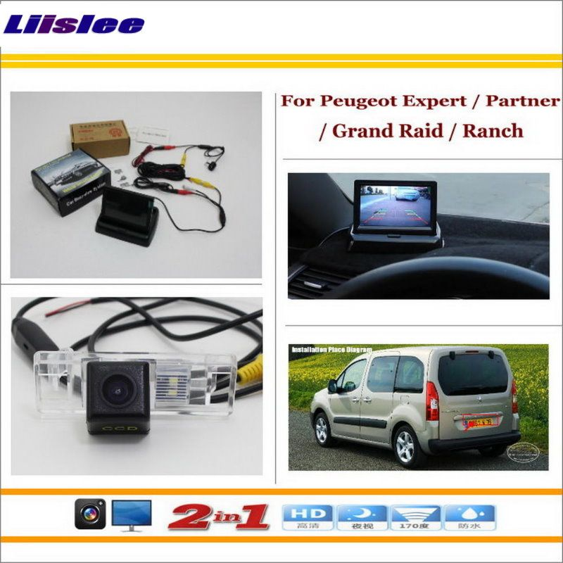 Liislee Für Peugeot Expert/Partner/Grand Raid/Ranch Auto Rückfahrkamera + 4,3