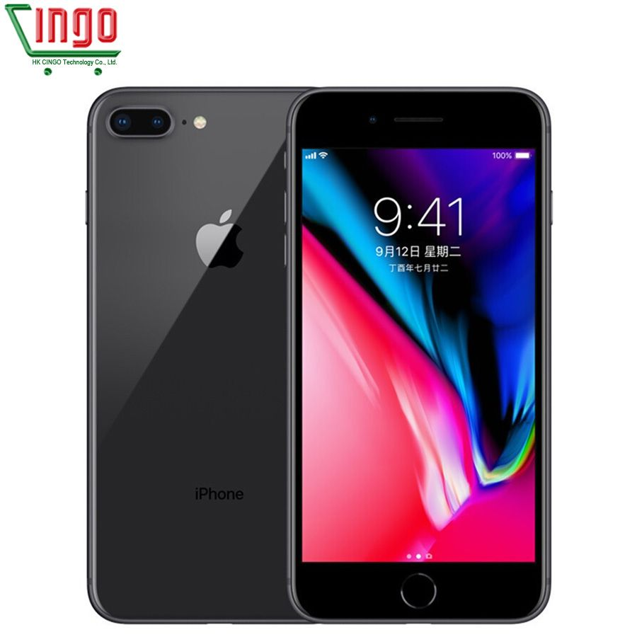 Original desbloqueado apple iphone 8 más 5.5 pulgadas 3 GB RAM 64G ROM hexa Core 12mp 2691 mAh IOS LTE huella digital iPhone 8 P teléfono móvil