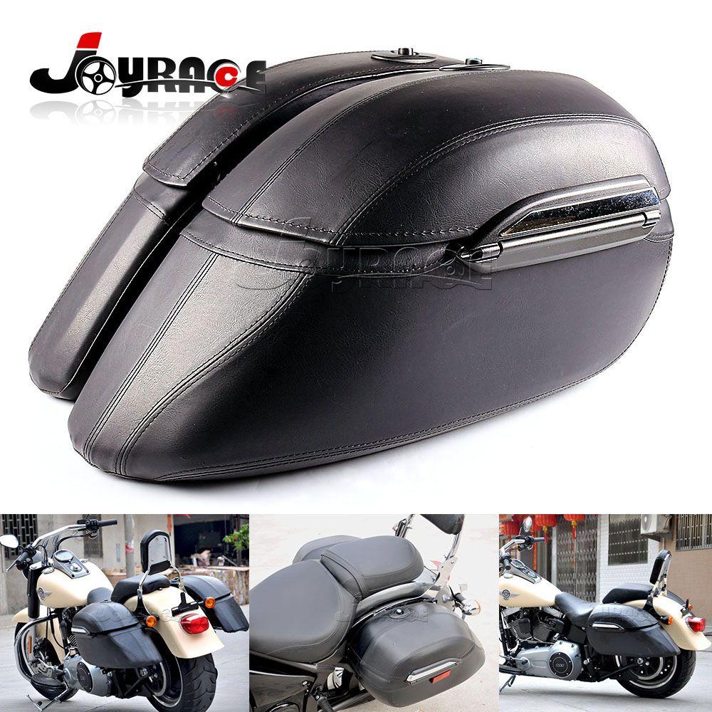 Universal Black Saddle Bag Mount Bracket Trunk Luggage Motorcycle