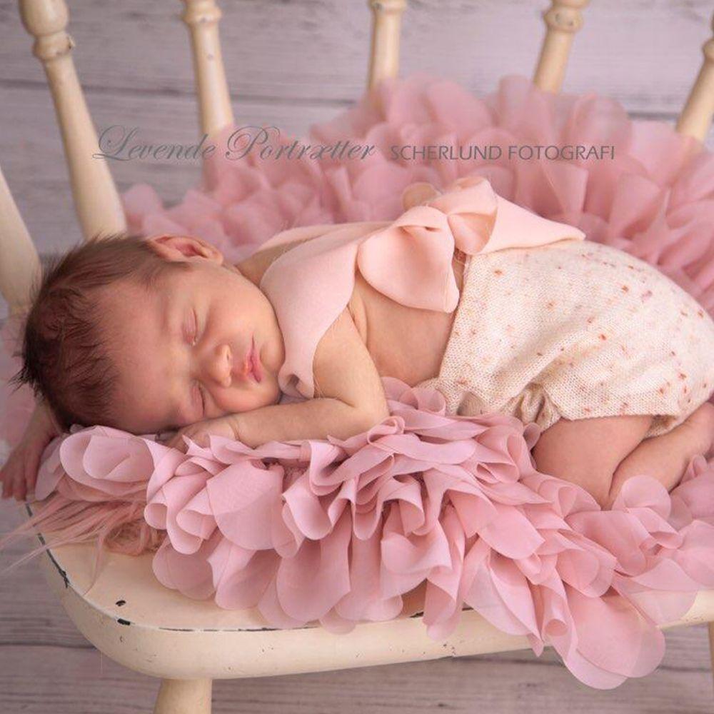 Handcraft flower Style Blanket Soft Chiffon Cushion Diameter=49~50cm Baby Shower Gift Newborn <font><b>Photography</b></font> Props