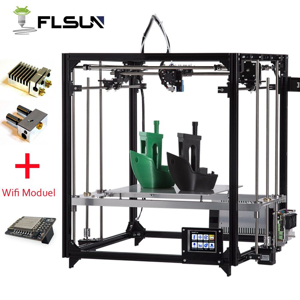 Flsun 3D Printer Kit Large Printing Area 260*260*350mm Touch Screen Double Extruder Aluminium Frame 3 d printer with Heated Bed