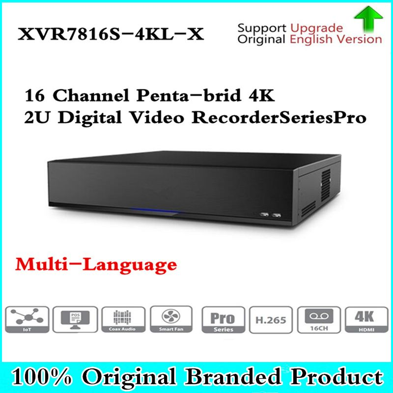 Original DH Multi-Sprache version DVR XVR 16 Kanal Penta-brid 4 karat H.265 2U Digital Video Recorder seriesPro XVR7816S-4KL-X