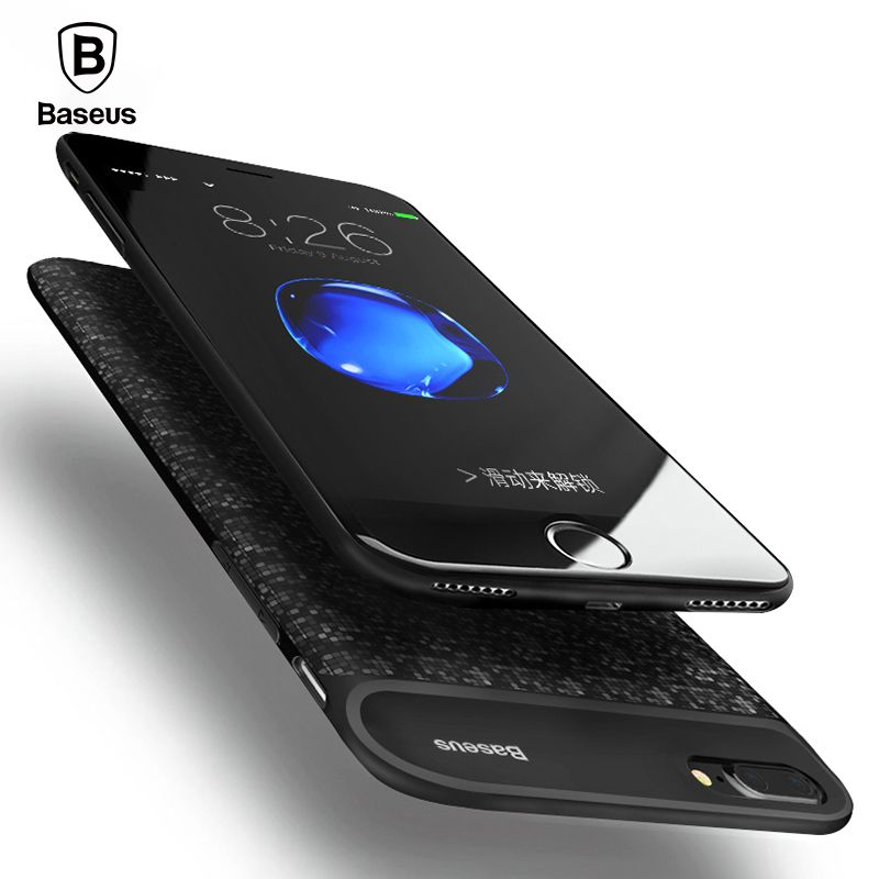 Baseus 5000mAh/7300mAh Battery Charger Case For iPhone 7 8 Ultra <font><b>Thin</b></font> Power Bank Case For iPhone 7 Plus 8 Plus Charging Case