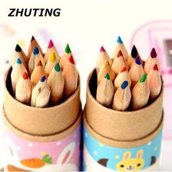 Enfants étudiant couleur crayon outil dessin stylo enfant art crayon rouge 12 vente