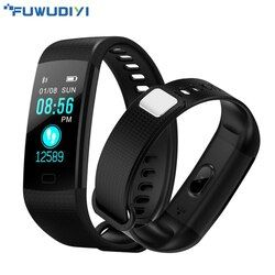FUWUDIYI Y5 Smart Bracelet Moniteur de Fréquence Cardiaque Fitness Bracelet Couleur Écran Sang Pression Activité Tracker Bande PK mi Bande 2
