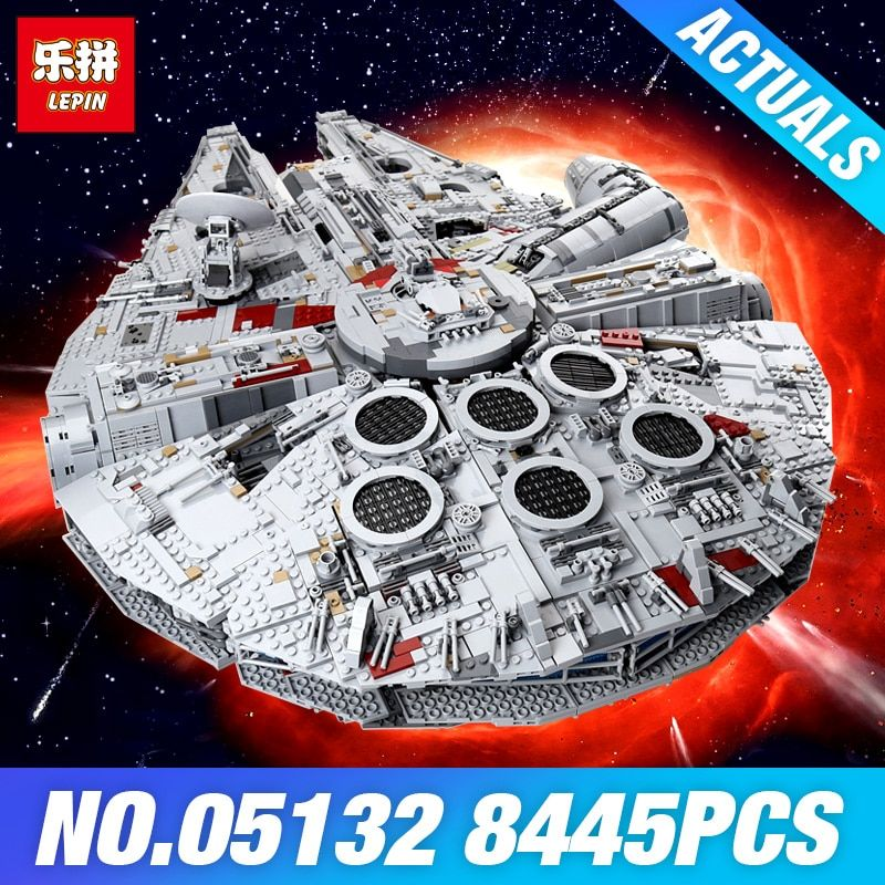 Lepin 05132 Star Series Plan 75192 Millennium Falcon Ultimate Collector's Model Destroyer Building Blocks Bricks Toys DIY Gifts