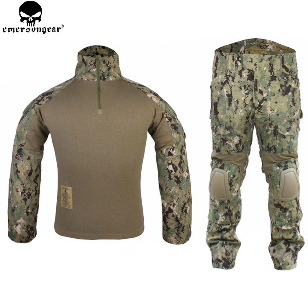 EMERSONGEAR Gen2 Taktische Anzug Combat shirt Hosen mit Knie Pads Jagd Airsoft Paitball Uniform AOR2 EM6924