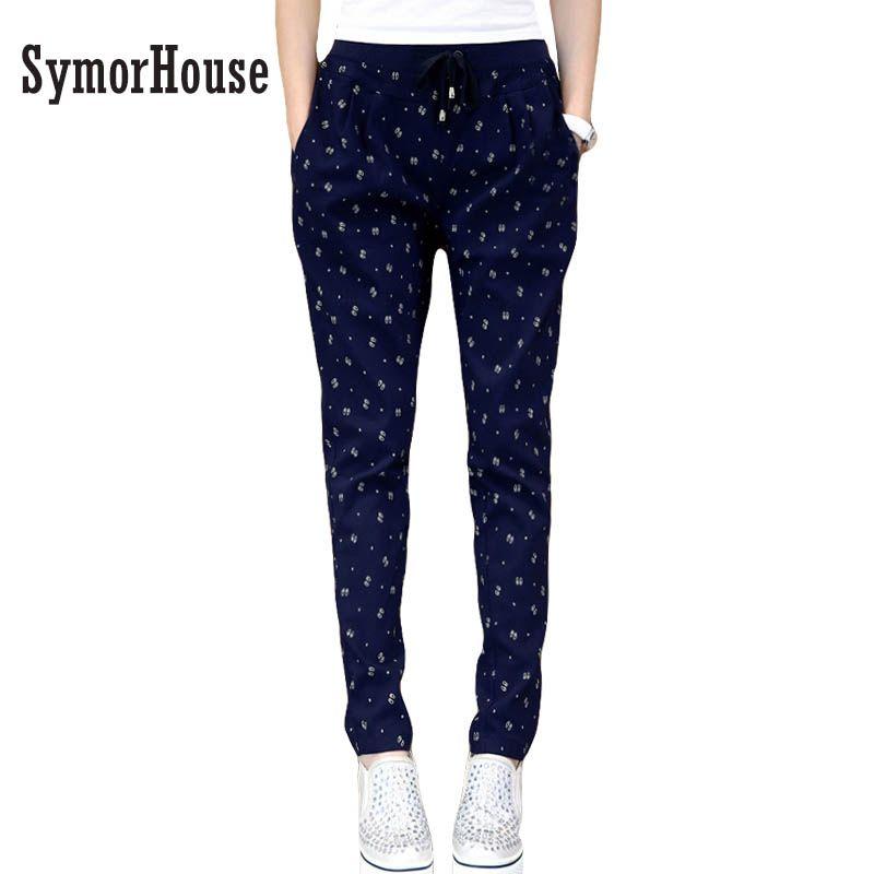 5XL 4XL 3XL Autumn Winter Plus size pencil Pants Women Fashion  Loose Tie Elastic Waist Large size Harem Pants Trousers women
