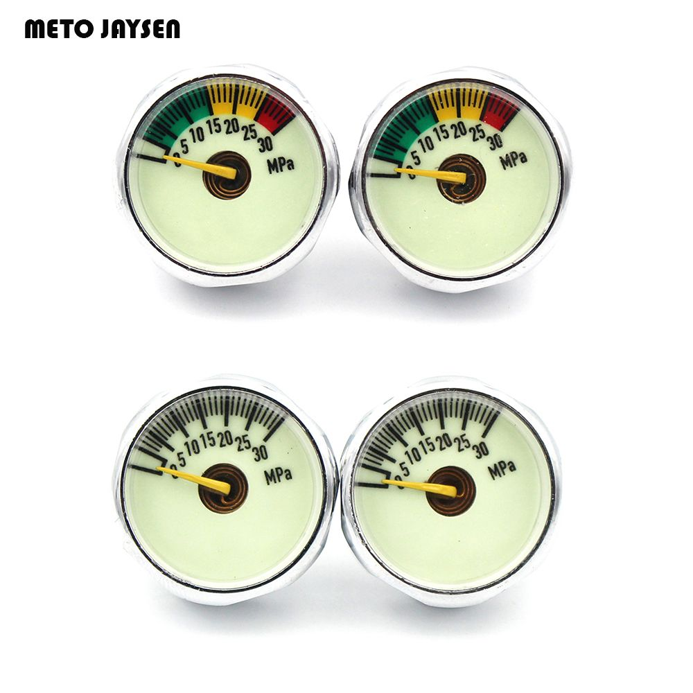 3PCS=1 LOT PCP Paintball Airsoft Luminous Mini Air Pressure Gauge Airfore Manometre 10/20/30MPA 1'' M8x1/M10 x1 Thread  SGE001