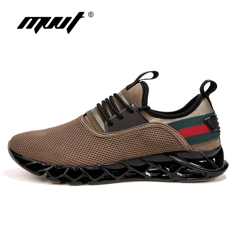 Summer New Breathable Men Running Shoes Cushioning <font><b>Blade</b></font> Sneakers Men Sport Shoes Traveling For Walking Shoes