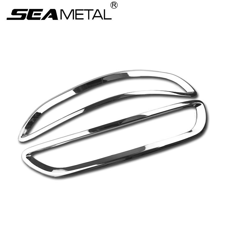1Pair For KIA Sportage 4 QL 2016 2017 Car Styling ABS Chrome Auto Rear Fog Cvoer Lamp Daytime Running Light Frame Decoration Man