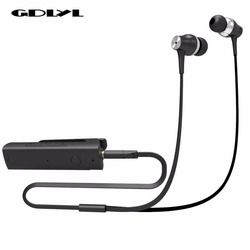GDLYL Portable Earphones Mini Clip On Stereo Headset Wireless Bluetooth Earphone With Microphone Audio Receiver Adapter 3.5mm