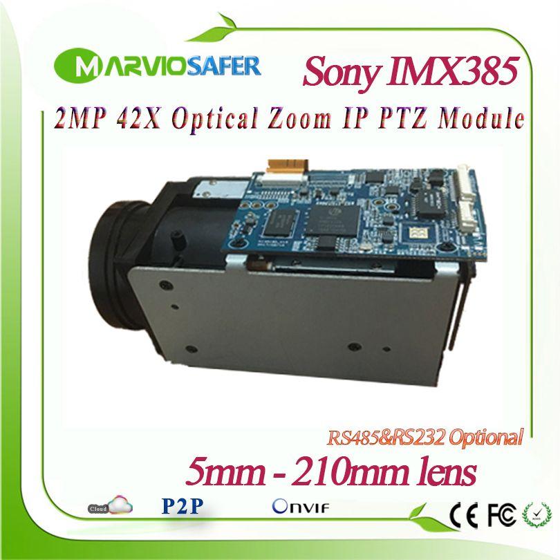H.265 1080 P 2MP 42X Optische Zoom 5-210mm objektiv Netzwerk IP Kamera PTZ Modul Sternenlicht Sony IMX185 /IMX385 Sensor RS485/RS232 Onvif