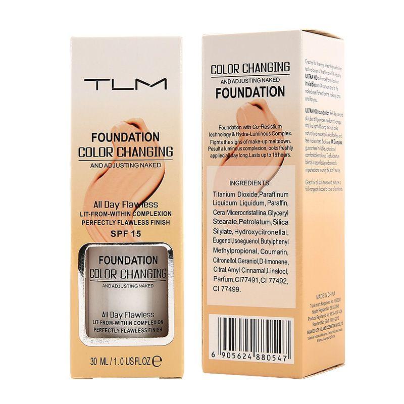 Fond de teint Pro changeant de couleur Base de maquillage visage nu couverture liquide correcteur longue durée maquillage cadeau sombras fond de teint soin de la peau