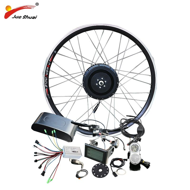 jueshuai 48V 500W Hub Motor E Bicycle Ebike Conversion Kit for 26