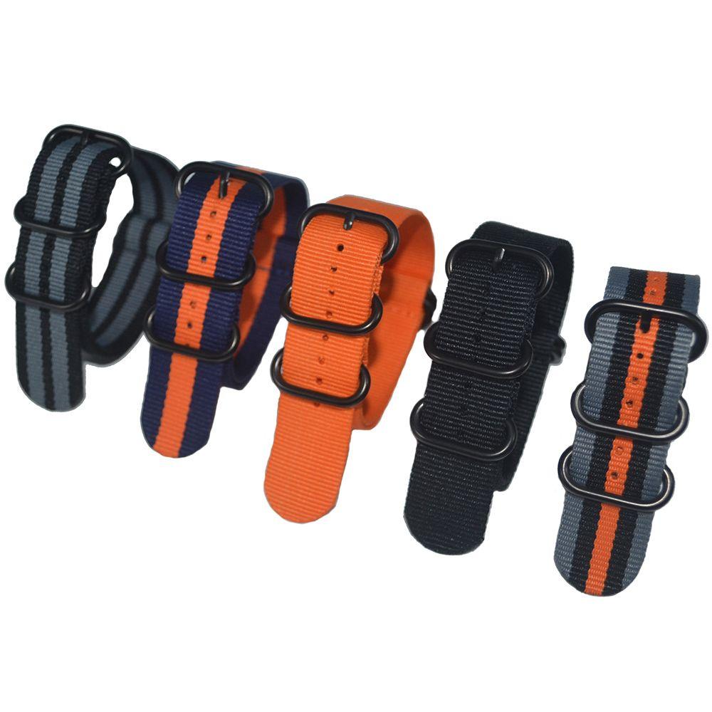 1 unids calidad 22mm nylon correa de reloj Zulu NATO Correa 3.0 hebilla de pulsera del deporte