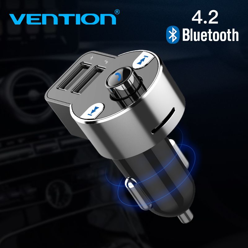Vention Bluetooth 5V 3.1A Car Charger Music Player FM Fast Charge for iPhone 6s 6 plus Android for Samsung Control MP3 Player