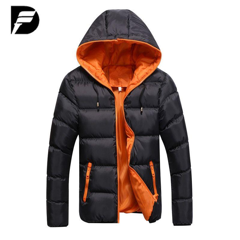 Winter Jacket Men Casual New Hooded Thick Padded Jacket Zipper Slim Men And Women Coats Men Parkas Outwear Warm Coat