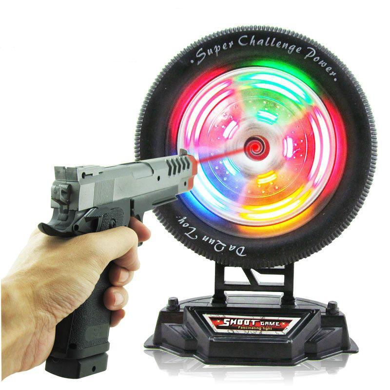 Jouets pour enfants en gros enfants électrique infrarouge laser pistolet tir roues d'entraînement ciblant la musique légère