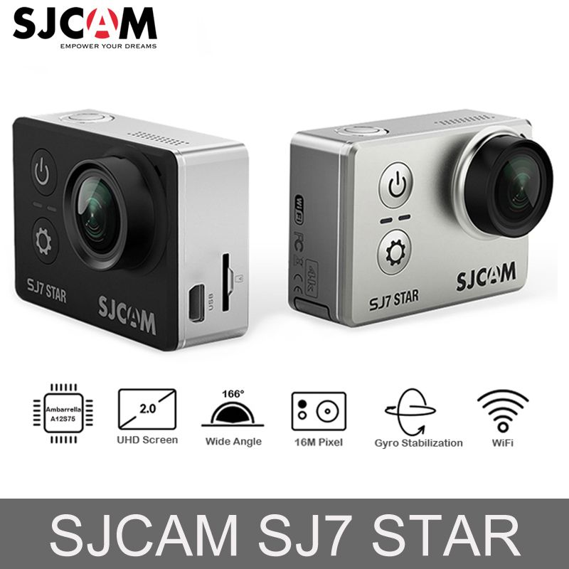 Original SJCAM SJ7 STAR Ambarella Action Camera 4K Ultra HD WiFi DVR Car Camera Underwater Waterproof Mini Drone Video Camera