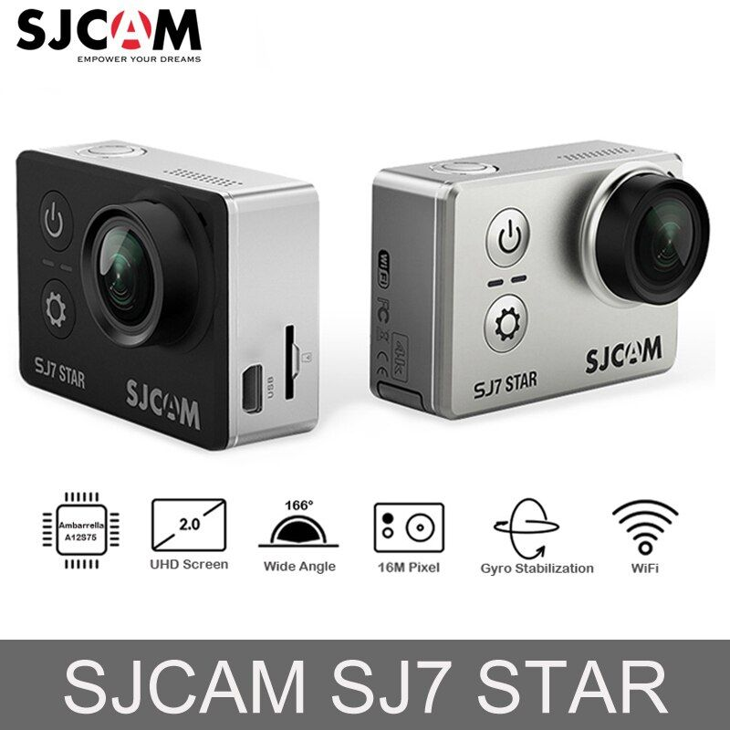 Original SJCAM SJ7 STAR Ambarella Action Camera 4K Ultra HD WiFi DVR Car Camera Underwater Waterproof Mini Video Camera <font><b>Drone</b></font>