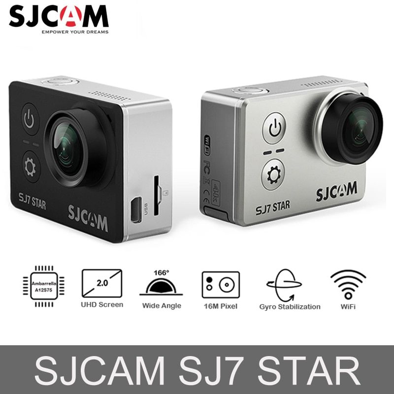 Original SJCAM SJ7 STAR Ambarella <font><b>Action</b></font> Camera 4K Ultra HD WiFi DVR Car Camera Underwater Waterproof Mini Drone Video Camera