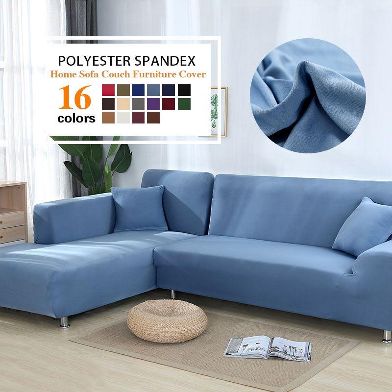 Housse de canapé de couleur grise housse de canapé élastique extensible pour salon Copridivano housse de canapé d'angle sectionnel en forme de L