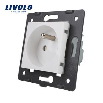 LIVOLO Fabricant, Livolo Blanc Matières Plastiques, FR standard, fonction Clé Pour Français Socket, VL-C7-C1FR-11 (4 Couleurs)
