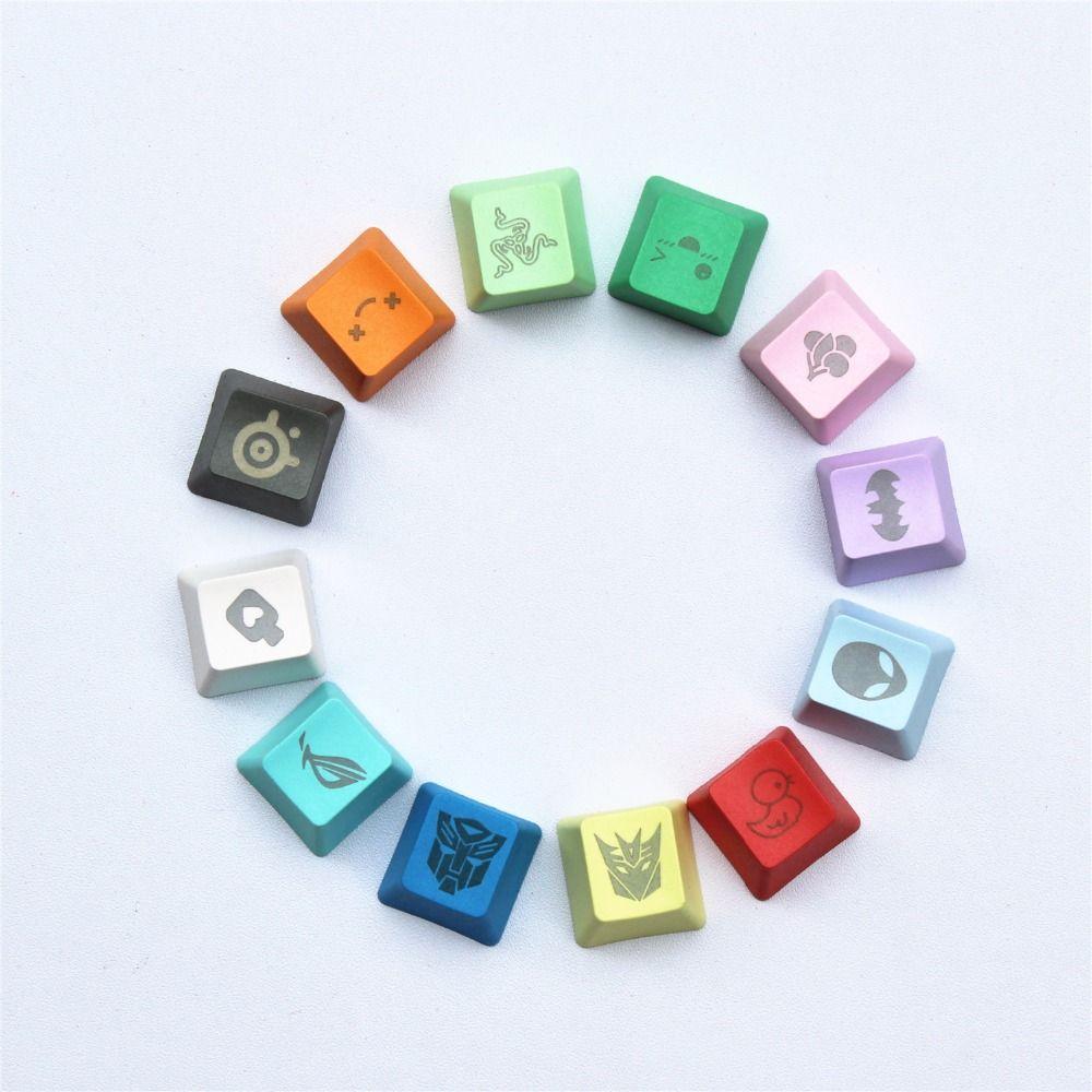 12 couleurs 29 graphique DIY PBT keycaps OEM R4 cerise MX interrupteur mécanique clavier keycap acheter un en obtenir un gratuitement