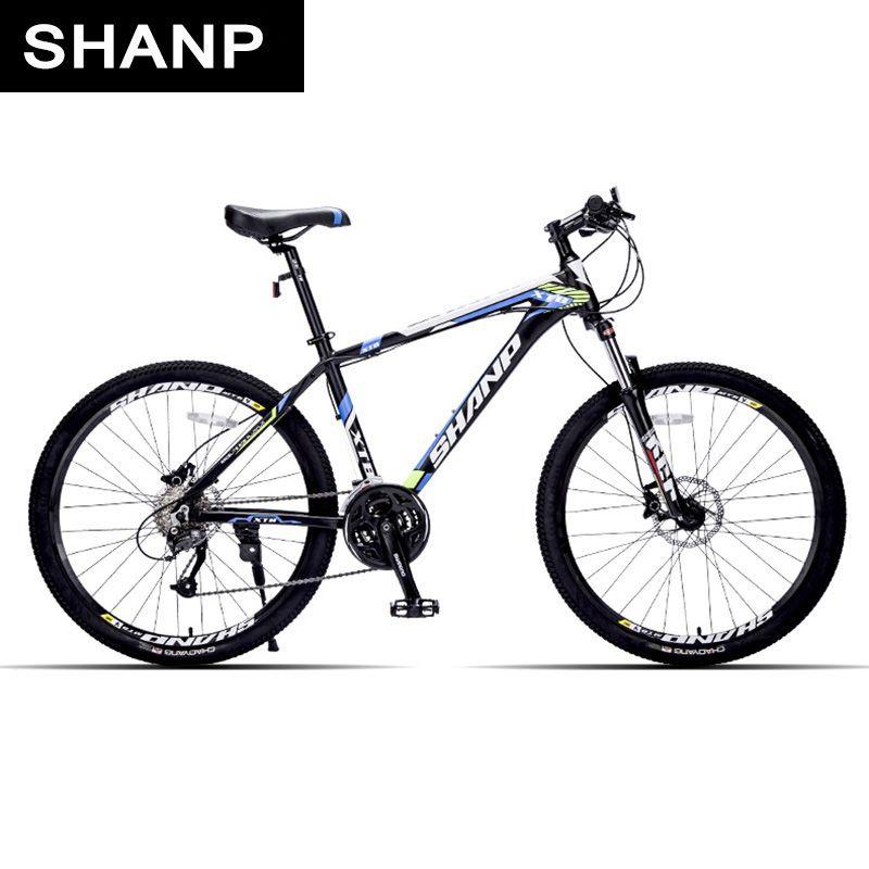 SHANP Mountain Bike Aluminum Frame 27 Speed Microshift Hydraulic/Mechanical Brake 26