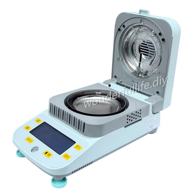 Professionelle Material Halogen Feuchtigkeit Analysator 100g/0,01g feuchtigkeit tester meter für PC Kunststoff PE korn Chemikalien