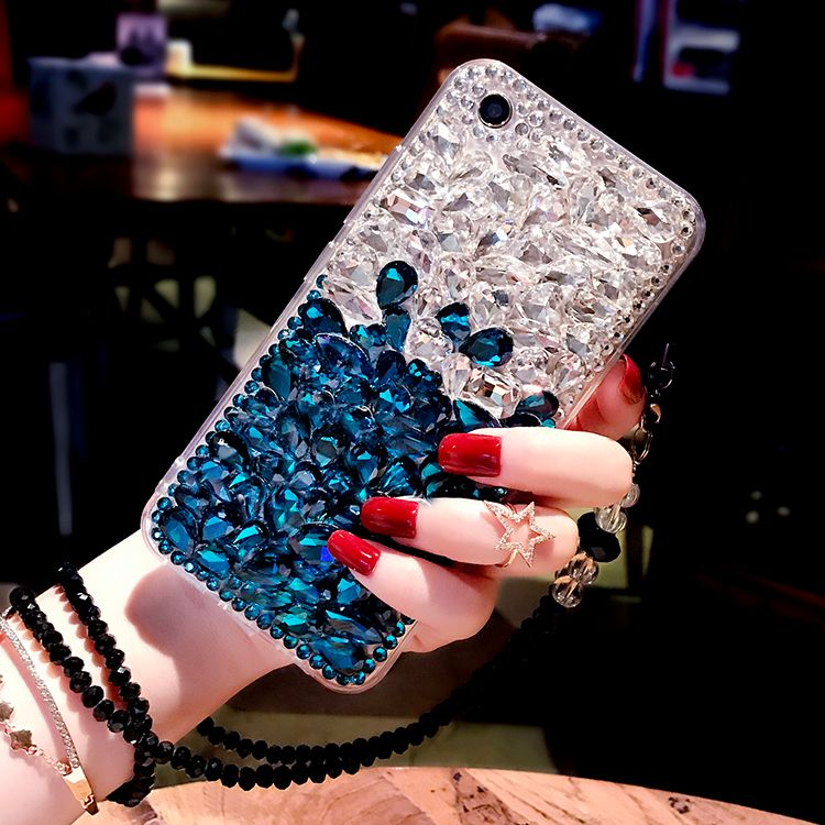 For S9 Jewelled Case Luxury Girl Woman Lady Soft TPU Clear Transparent Diamond Case For Samsung Galaxy S9 Plus S8 Plus Note 8