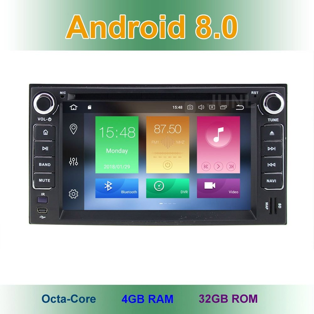 4 GB RAM Android 8.0 Car DVD Player for KIA SORENTO SPORTAGE SPECTRA SEDONA STAR CARNIVAL CERATO CARENS with GPS Radio BT WiFi