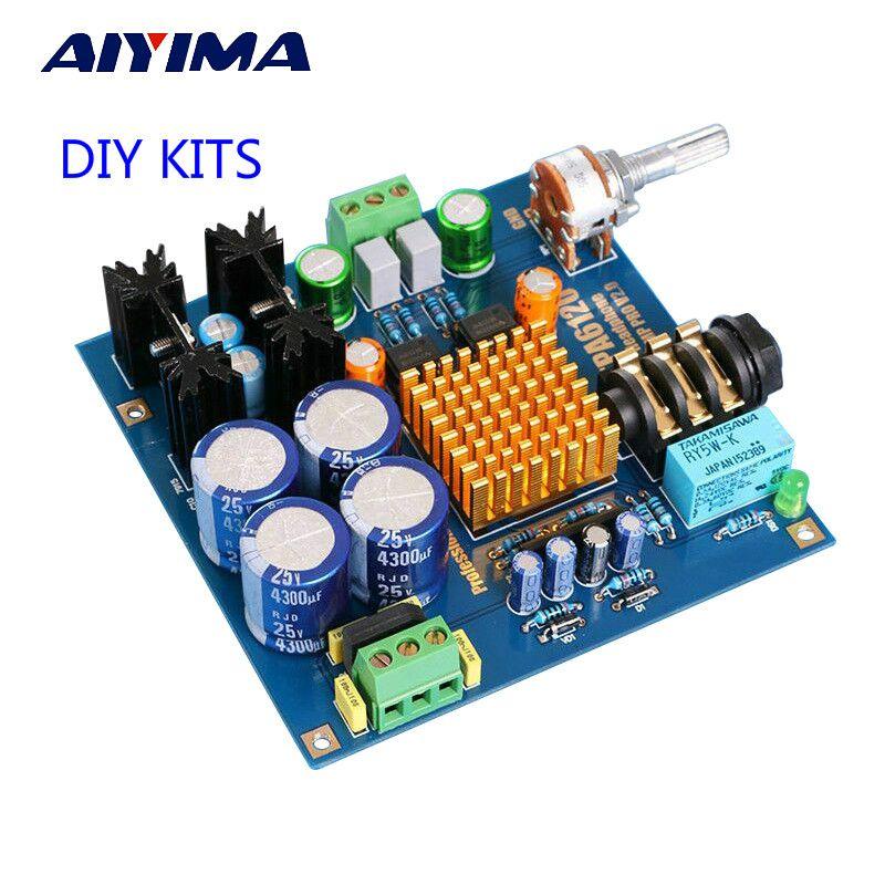 Aiyima TPA6120A2 Hi-Fi Усилители для наушников лихорадка аудио наушники AMP DIY Kit