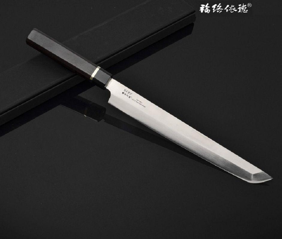 10,5 ''Sakimaru Takohiki Japan-stil Messer Deutsch 1,4116 Stahl Palisander Griff Kochmesser mit rand schutz 6,1G