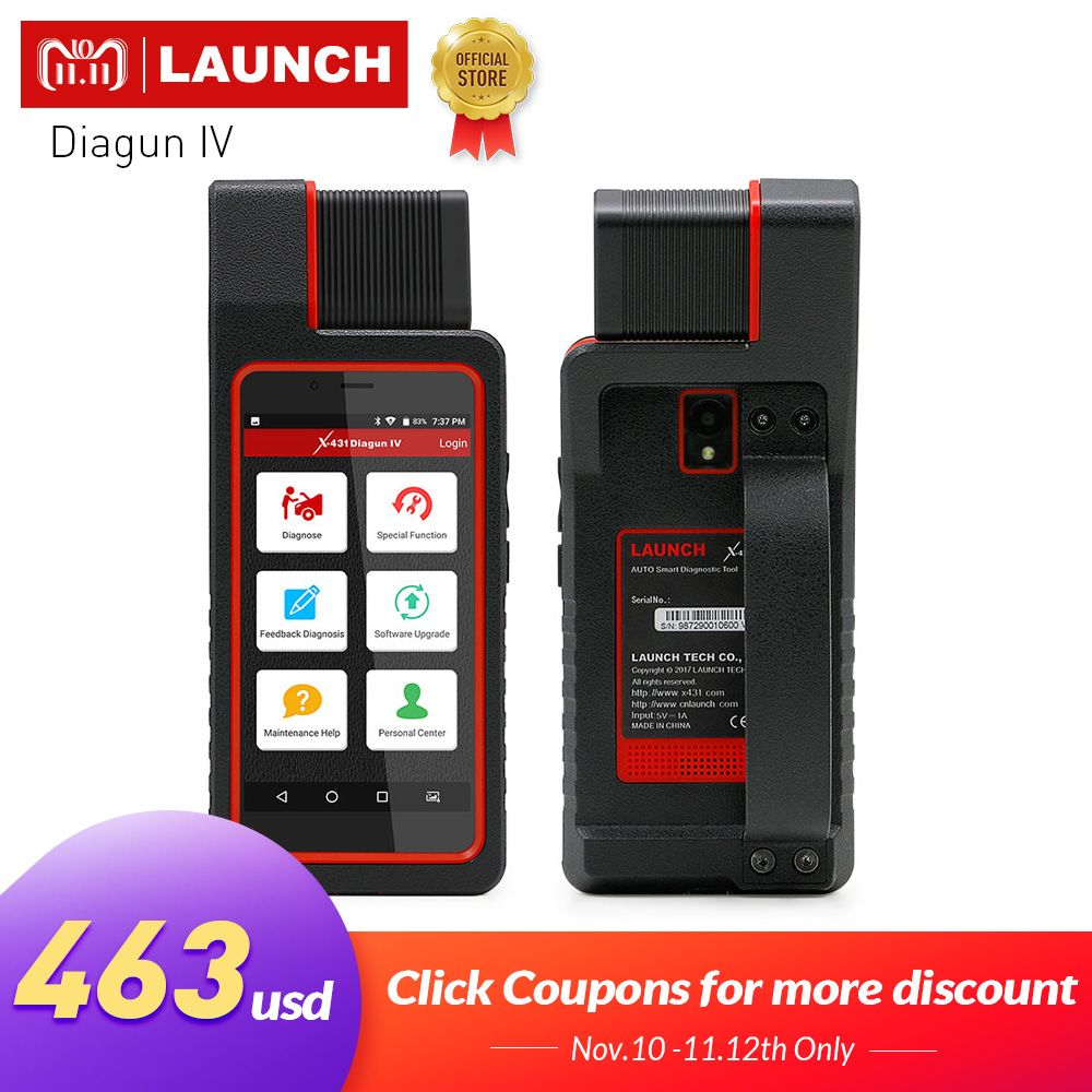 LAUNCH X431 Diagun IV OBD2 Auto Full System Diagnostic Tool Support Bluetooth/Wifi X-431 Diagun IV Scanner good than Diagun III