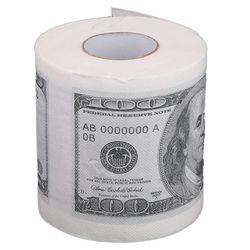 1 unid divertido cien dólares Bill higiénico rollo de papel $100 novela regalo creativo efectivo diseño facturas papel higiénico rollo