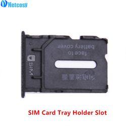 Netcosy Baru Hitam Pemegang Kartu SIM Slot Kartu SIM Tray Penggantian Parts untuk Oneplus Satu 1 + A0001 Gratis pengiriman