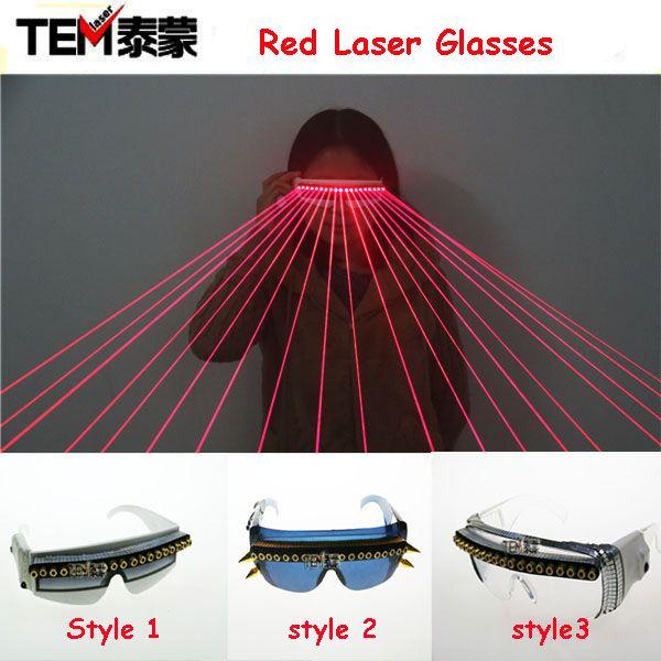 Очки для вечеринок с 16 световыми лазерами (650нм) Бесплатная доставка