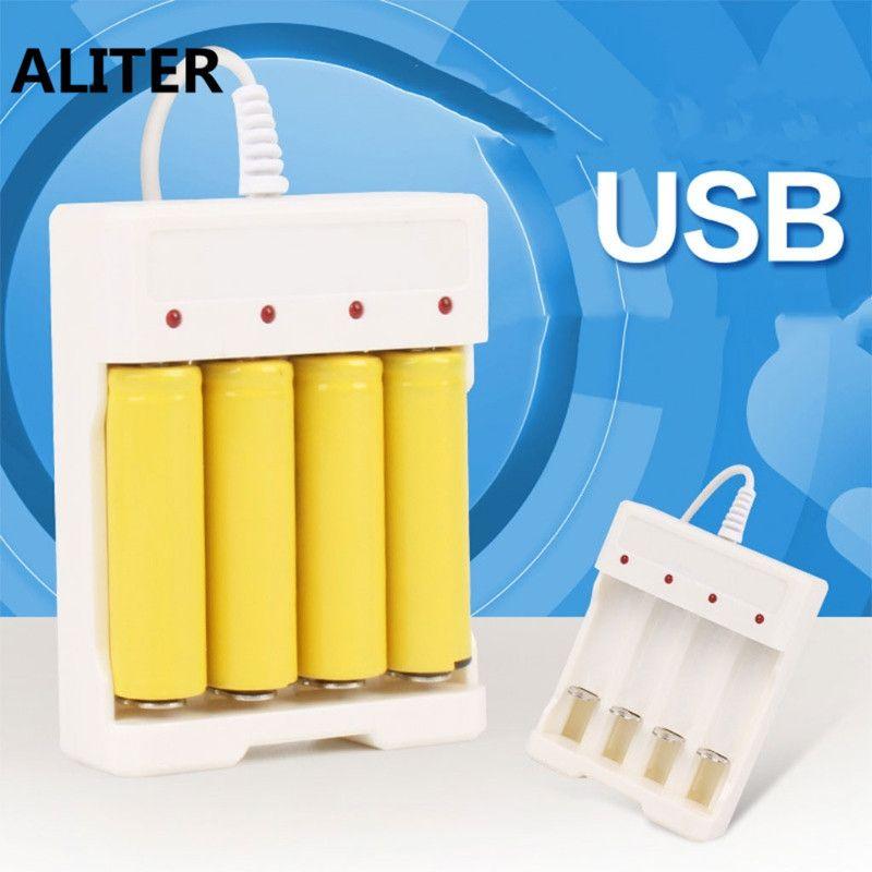 ALITER 1,2 V Universal Smart 4-Slot AA/AAA Akku Ladegerät Adapter Usb-stecker