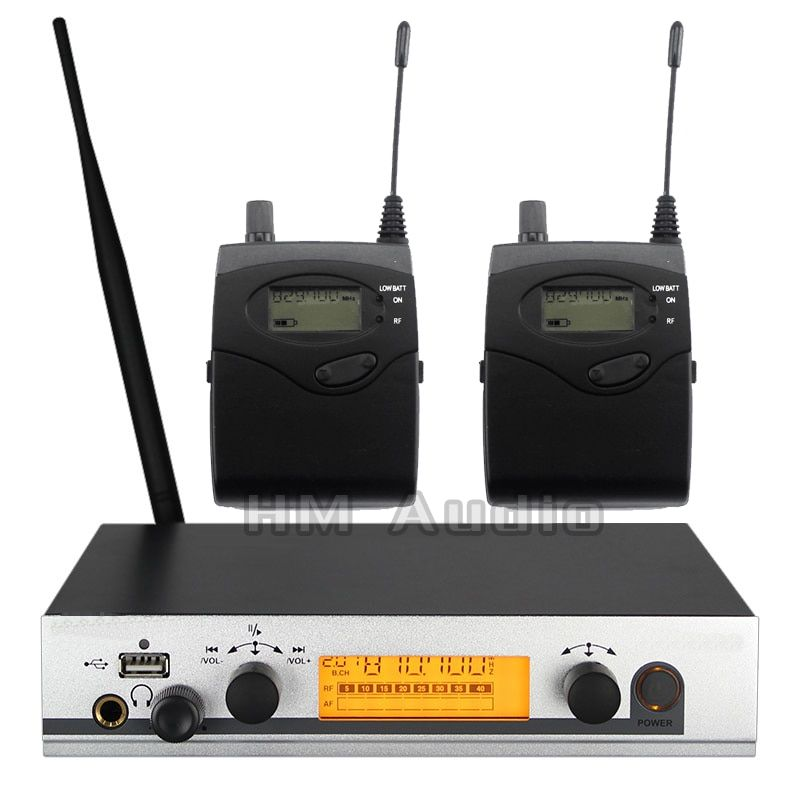 In Ear Monitor Wireless System EW300 IEM Single transmitter Monitoring Professional for Stage Performance 2 receivers